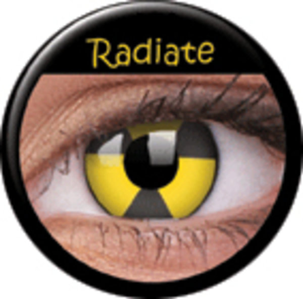 ColourVue Crazy šošovky - Radiate (2 ks trojmesačné) - nedioptrické