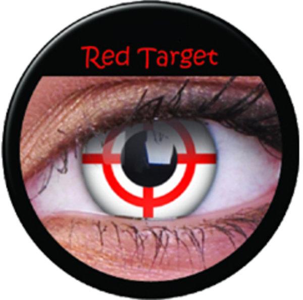 ColourVue Crazy šošovky - Red Target (2 ks trojmesačné) - nedioptrické