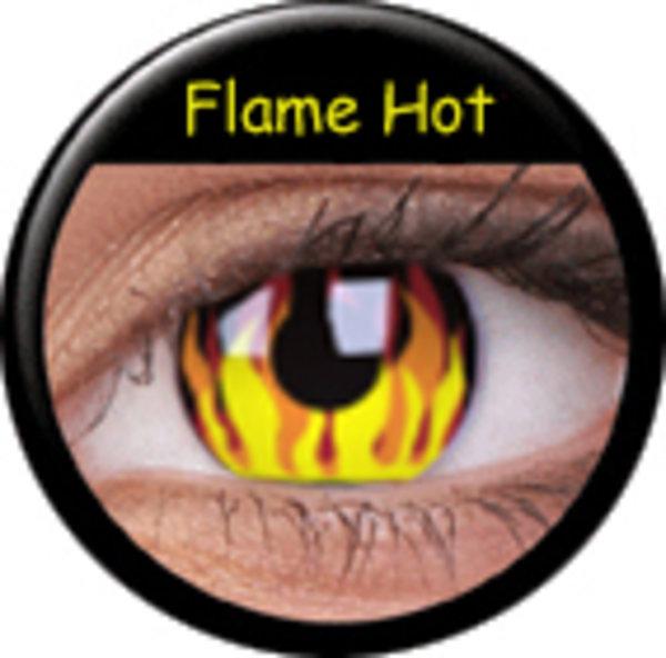 ColourVue Crazy šošovky - Flame Hot (2 ks ročné) - nedioptrické-poškodený obal