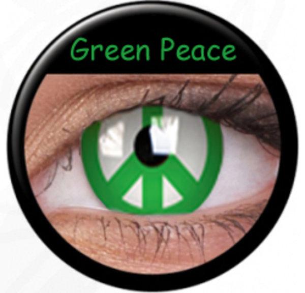 Phantasee Crazy šošovky - Green Peace (2 ks ročné) - nedioptrické