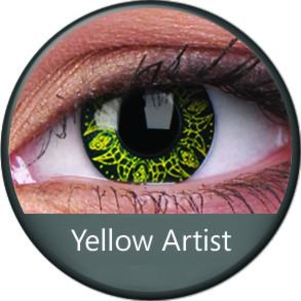 Phantasee Crazy šošovky - Yellow Artist (2 ks ročné) - nedioptrické