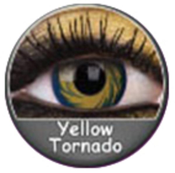 Phantasee Crazy šošovky - Yellow Tornado (2 ks ročné) - nedioptrické