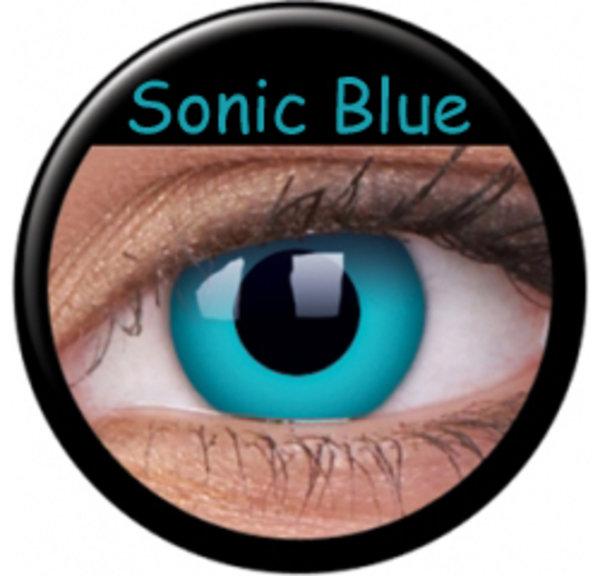 ColourVue Crazy šošovky - Sonic Blue (2 ks ročné) - nedioptrické