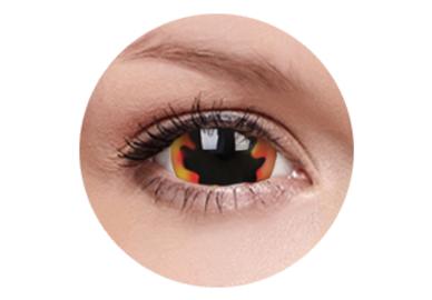 ColourVue Crazy šošovky 17 mm -  Blackhole Sun (2 ks ročné) - nedioptrické