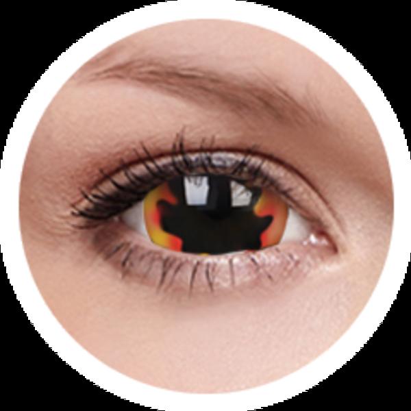 ColourVue Crazy šošovky 17 mm -  Blackhole Sun (2 ks ročné) - nedioptrické - poskodený obal