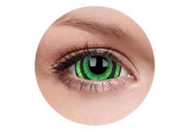 ColourVue Crazy šošovky 17 mm - Green Goblin (2 ks ročné) - nedioptrické