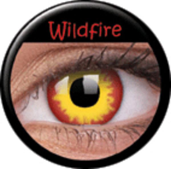 ColourVue Crazy šošovky - WildFire (2 ks ročné) - nedioptrické - poškodený obal