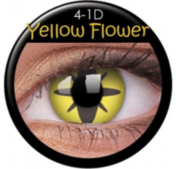 ColourVue Crazy šošovky - Yellow Flower (2 ks ročné) - nedioptrické