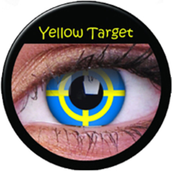 ColourVue Crazy šošovky - Yellow Target (2 ks ročné) - nedioptrické