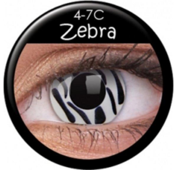 ColourVue Crazy šošovky - Zebra (2 ks ročné) - nedioptrické