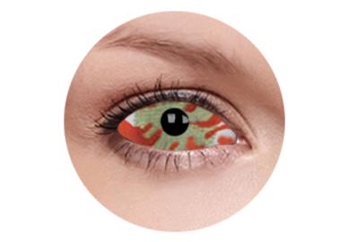 ColourVue Crazy šošovky Sklerálne - Contagion (2 ks polročné) - nedioptrické