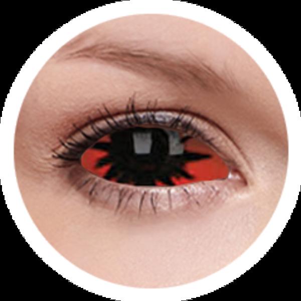 ColourVue Crazy šošovky Sklerálne - Omega Red (2 ks polročné) - nedioptrické