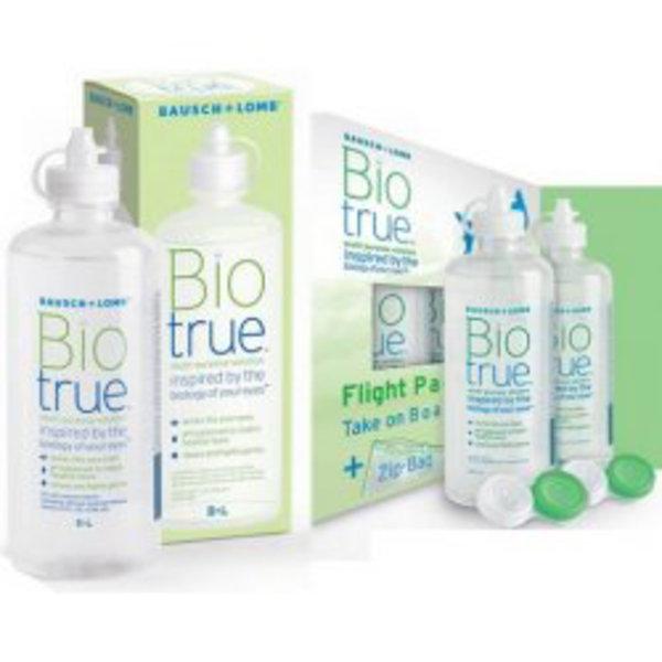 Biotrue 300ml s puzdrom + Flight Pack 2x60 ml