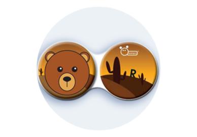 Antibakteriálne puzdro klasické - Divočina - Medveď