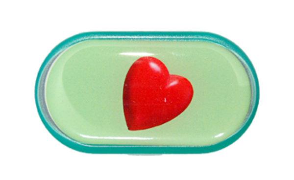 Púzdro so zrkadielkom Jednoobrázkové - Srdce