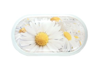 Púzdro so zrkadielkom motív kvety - Margarétka