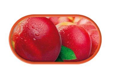 Púzdro so zrkadielkom motív Ovocie - Broskyne