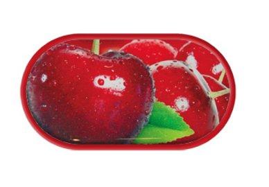 Púzdro so zrkadielkom motív Ovocie - Čerešne