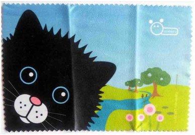 Handričku na okuliare z mikrovlákna - mačka