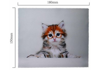 Handričku na okuliare z mikrovlákna - mačiatko ležiace