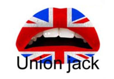 Samolepka na pery - Union Jack
