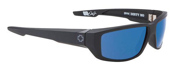SPY slnečné okuliare DIRTY MO Matte Black Blue - Polarizačné