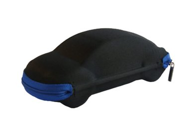Puzdro na okuliare so zipsom - auto čierne