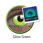 ColourVue Crazy šošovky UV svietiace - Glow Green (2 ks ročné) - nedioptrické