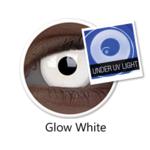 ColourVue Crazy šošovky UV svietiace - Glow White (Magic)  (2 ks ročné) - nedioptrické