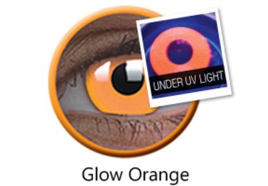 ColourVue Crazy šošovky UV svietiace - Glow Orange (2 ks ročné) - nedioptrické