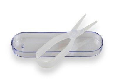 Klieštičky na kontaktné šošovky - Transparentný s púzdom