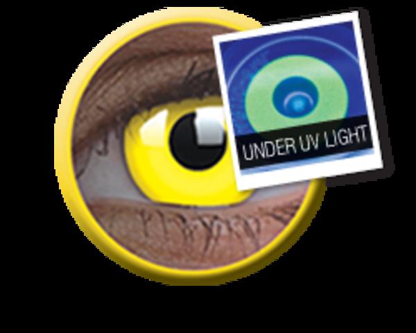 ColourVue Crazy šošovky UV svietiace - Glow Yellow (2 ks ročné) - nedioptrické - exp.4/2020