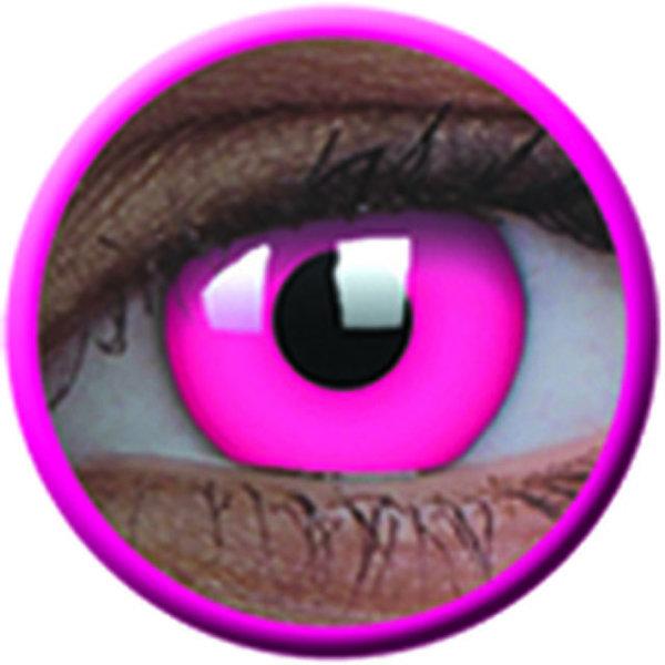 ColourVue Crazy šošovky UV svietiace - Glow Pink (2 ks ročné) - nedioptrické-poškodený obal