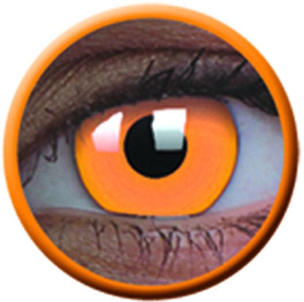 ColourVue Crazy šošovky UV svietiace - Glow Orange (2 ks ročné) - nedioptrické-poškodený obal
