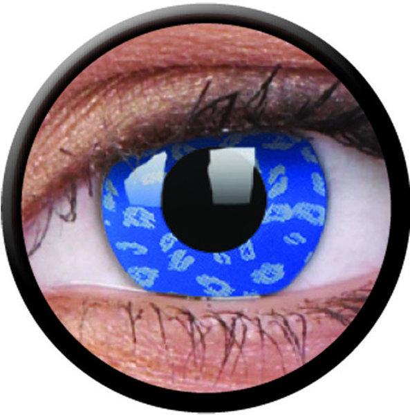 ColourVue Crazy šošovky - Blue Leopard (2 ks trojmesačné) - nedioptrické