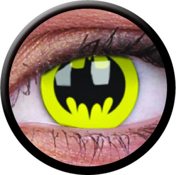 ColourVue Crazy šošovky - Batman (2 ks ročné) - nedioptrické