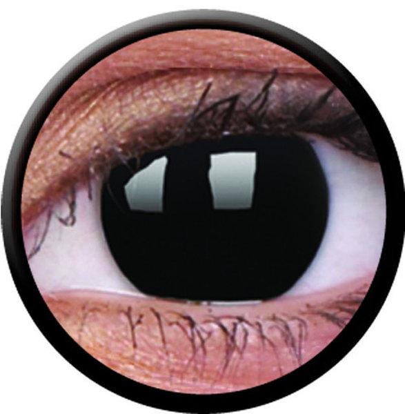 ColourVue Crazy šošovky - BlackOut (2 ks ročné) - nedioptrické