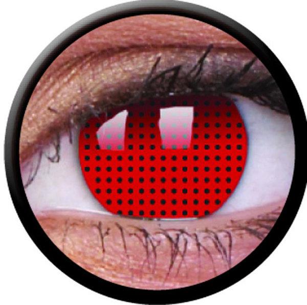 ColourVue Crazy šošovky - Red Screen (2 ks ročné) - nedioptrické