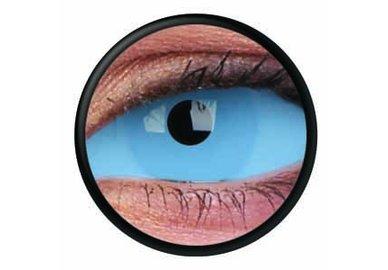 ColourVue Crazy šošovky Sklerálne - Athena Blue (2 ks polročné) - nedioptrické