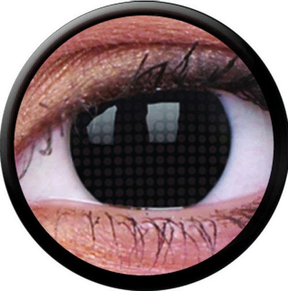 ColourVue Crazy šošovky - Black Screen (2 ks trojmesačné) - nedioptrické - výpredaj