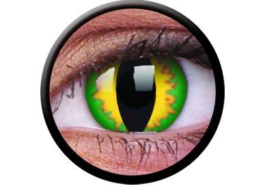 ColourVue Crazy šošovky - Green Dragon (2 ks trojmesačné) - dioptrické
