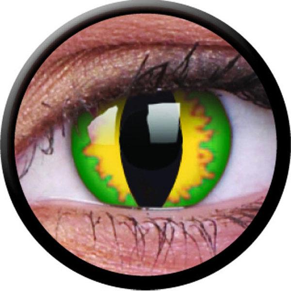 ColourVue Crazy šošovky - Green Dragon (2 ks trojmesačné) - dioptrické - exp.04/2020