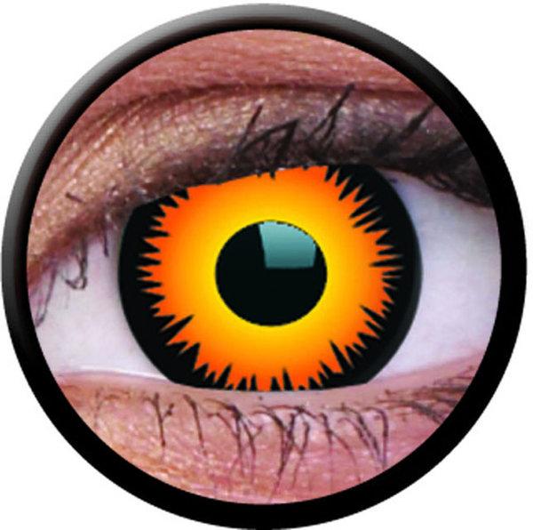 ColourVue Crazy šošovky - Orange Werewolf (2 ks trojmesačné) - dioptrické - exp.02,04/2020