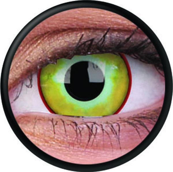 ColourVue Crazy šošovky - Yellow Plague (2 ks trojmesačné) - nedioptrické - exp.01/2020