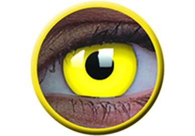 ColourVue Crazy šošovky UV svietiace - Glow Yellow (2 ks ročné) - nedioptrické