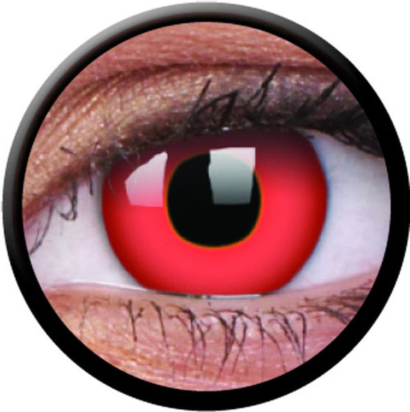 ColourVue Crazy šošovky - Red Devil (2 ks  jednodenné) - nedioptrické