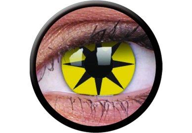 ColourVue Crazy šošovky - Yellow Star (2 ks trojmesačné) - nedioptrické