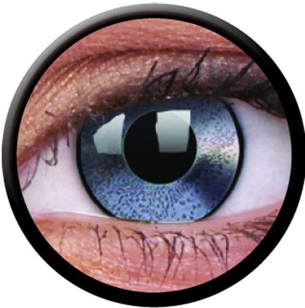 ColourVue Crazy šošovky - Mirror Silver (2 ks ročné) - nedioptrické