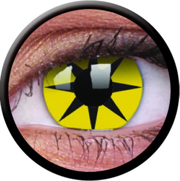ColourVue Crazy šošovky - Yellow Star (2 ks ročné) - nedioptrické - exp.02/21