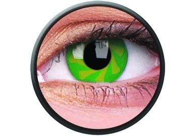 Phantasee Crazy šošovky - Green Spin (2 ks ročné) - nedioptrické - exp.02/2021